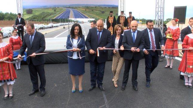 Резултат с изображение за бойко открива магистрала