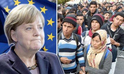 Image result for меркел бежанци