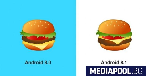 Гугъл поправи емоджи с чийзбургер след жалби на ...