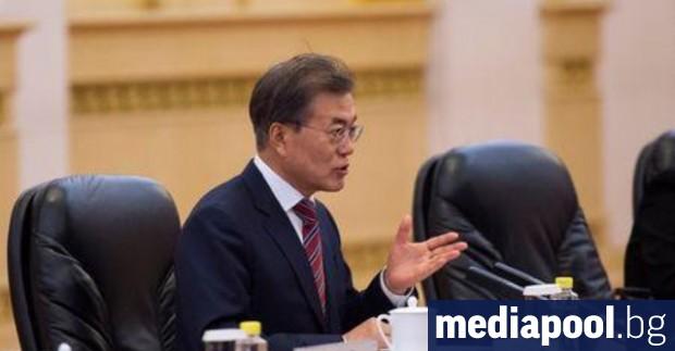 Южнокорейският президент Мун Дже-ин Южна Корея предложи на северната си