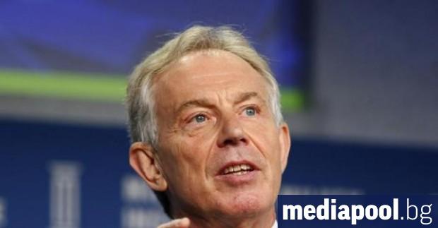 Тони Блеър Бившият британски премиер Тони Блеър отново защити своето