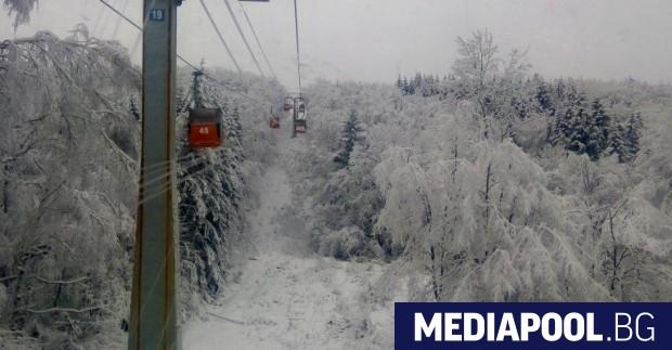 Кабинковият лифт на Витоша спря работа в събота, заради сериозно