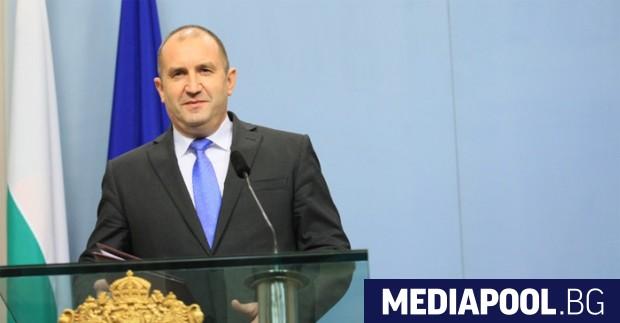 Президентът Румен Радев. Снимка: БГНЕС В лявото пространство се оформят