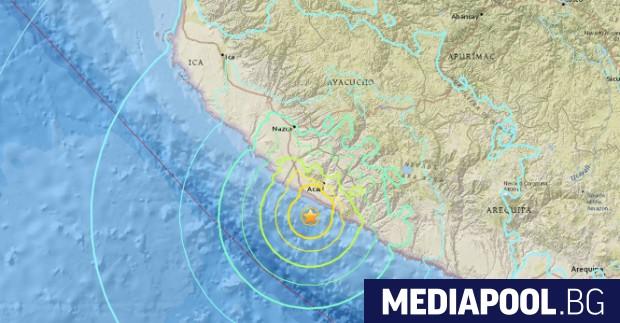 Силно земетресение разлюля Перу. Според Европейския сеизмологичен център магнитудът му