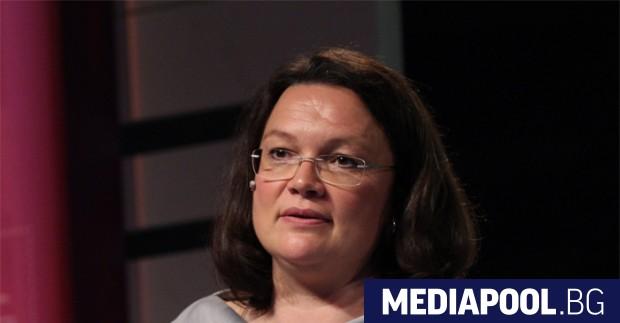 Андреа Налес, вероятният следващ лидер на Германската социалдемократическа партия (ГСДП),