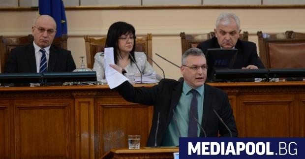 Мнозинството в парламента освободи Валери Жаблянов от БСП от поста