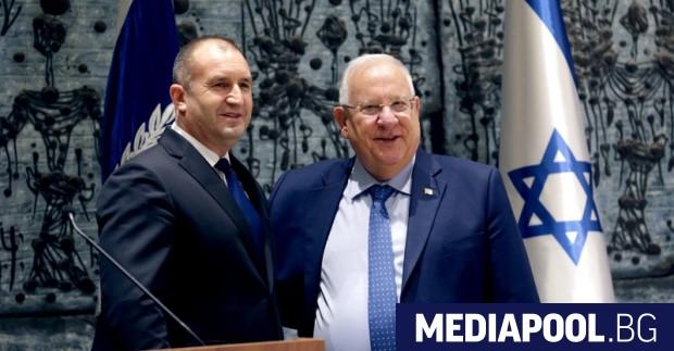 Румен Радев и Реувен Ривлин, сн. БГНЕС Израел като водеща
