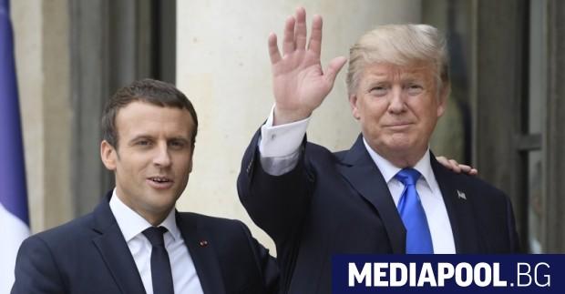 Президентите на Франция и САЩ Еманюел Макрон и Доналд Тръмп