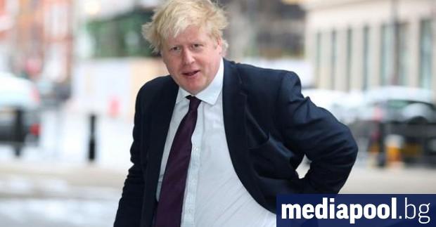 Британският външен министър Борис Джонсън пристига в Би Би Си
