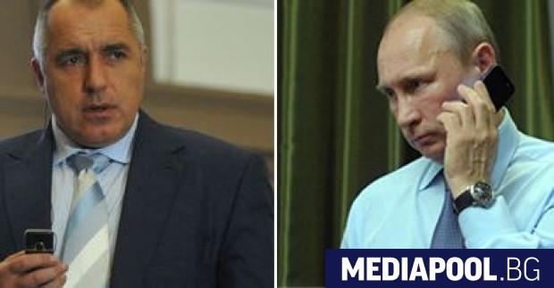 Борисов и Путин Премиерът Бойко Борисов поздрави президента Владимир Путин