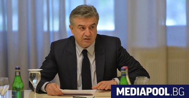 Карен Карапетян Изпълняващият длъжността министър-председател на Армения Карен Карапетян предложи