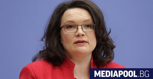 Андреа Налес Германската социалдемократическата партия (ГСДП) избра за свой председател