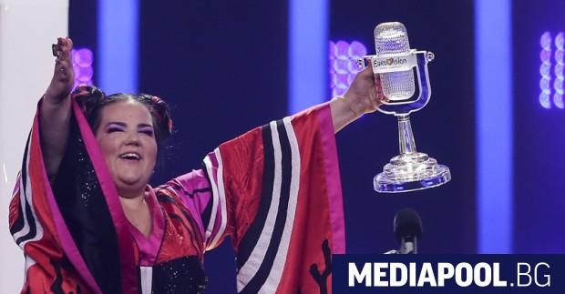 Израелката Нета триумфира на Евровизия 2018, сн. ЕПА/БГНЕС Израелската певица