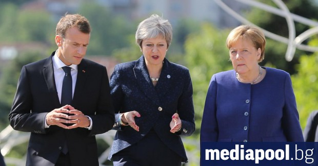 Лидерите на Франция, Великобритания и Германия - Еманюел Макрон, Тереза
