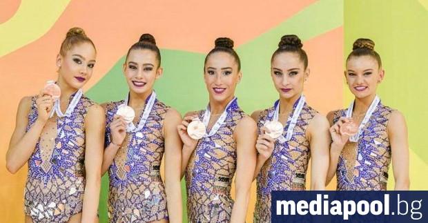 Снимка: Ансамбълът по художествена гимнастика взе европейско злато на топки и въжета