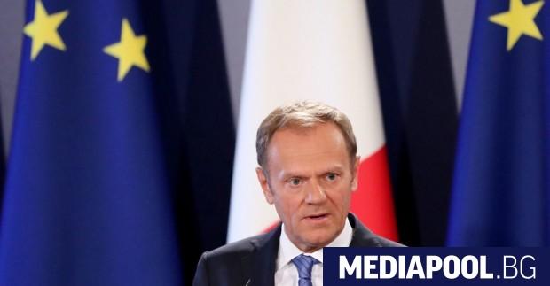 dcf32fa41020 Доналд Тръмп, ЕПА БГНЕС Председателят на Европейския съвет Доналд Туск  предупреди