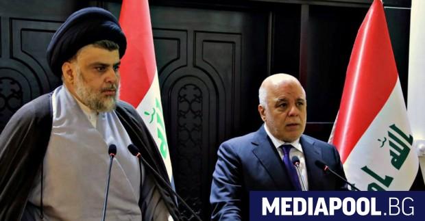 Муктада Садр и действащият премиер Хайдер ал Абади Двете листи