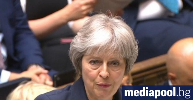 Тереза Мей в британския парламент Уилям Джеймс, Ройтерс Британският премиер