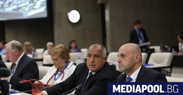 Премиерът Бойко Борисов по време на конференцията в София, а