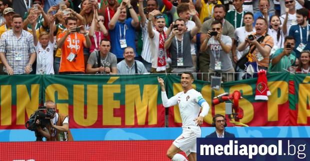 Звездата на Португалия Кристиано Роналдо вкара в сряда своя 4-и