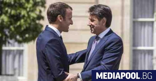Еманюел Макрон и Джузепе Конте Италия ще представи собствен план
