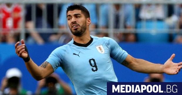 Луис Суарес, сн. ЕПА/БГНЕС Отборът на Уругвай победи тима Русия