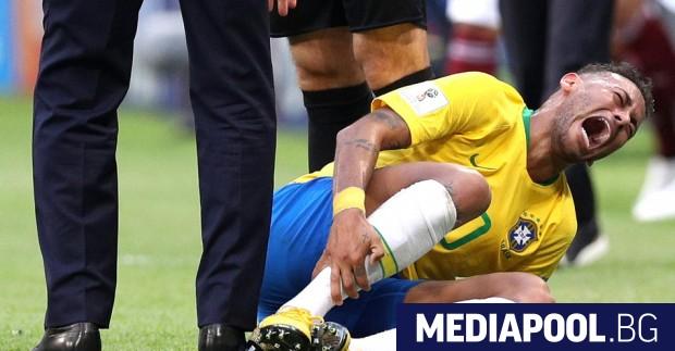 Голямата звезда на Бразилия Неймар е прекарал 13:50 минути в