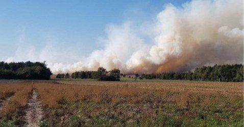 Бедствено положение край военен полигон в Германия заради пожар след учебни стрелби