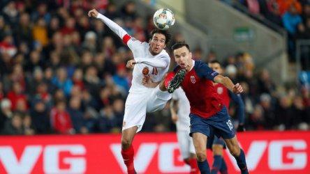 България загуби от Норвегия в Лигата на нациите, но запазва шансове