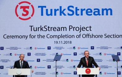 """Завършен е морският участък на """"Турски поток"""""""