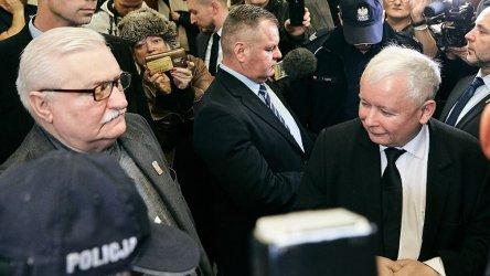 Лех Валенса и Ярослав Качински се изправиха един срещу друг в съда