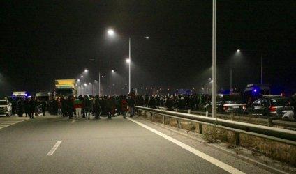 """Протестиращи срещу правителството отново блокираха магистрала """"Люлин"""""""