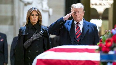 Доналд Тръмп отдаде почит на покойния президент Джордж Буш-старши