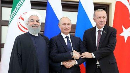 Президентите на Русия, Иран и Турция обсъдиха ситуацията в Сирия