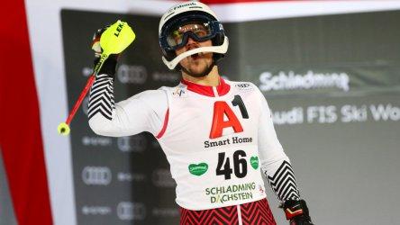 Алберт Попов завърши шести в ски слалома в Шладминг