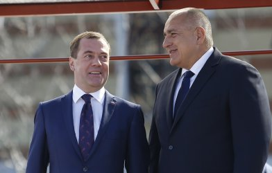 """Медведев и Борисов обсъдиха АЕЦ """"Белене"""" и газовия хъб"""
