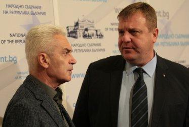 """Каракачанов пак иска обща листа на """"Патриотите"""", Сидеров - пълен мандат на Борисов"""