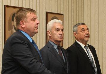 Сидеров и Каракачанов чакат Симеонов да каже ще ходят ли заедно на избори