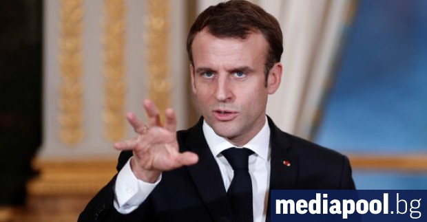 Три седмици преди европейските избори френският президент Еманюел Макрон и