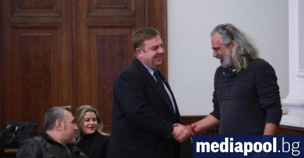 Снимка: Андрей Слабаков и ген. Димитър Шивиков в евролистата на ВМРО