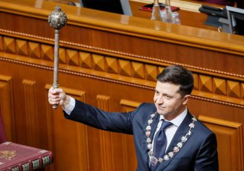 Новият президент на Украйна положи клетва и разпусна Върховната рада