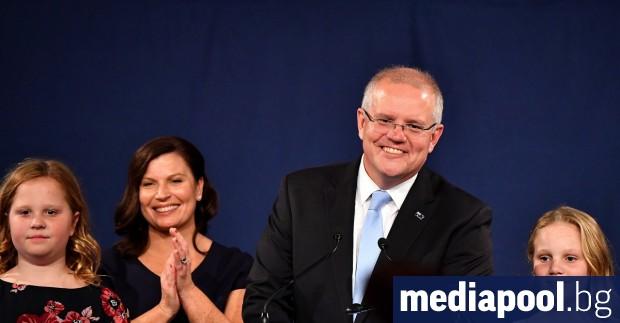 Австралийският премиер Скот Морисон обяви изборната победа на своята Либерално-национална
