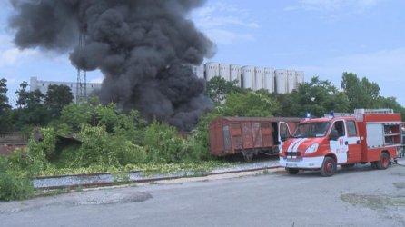Пожар горя край Сточна гара в София