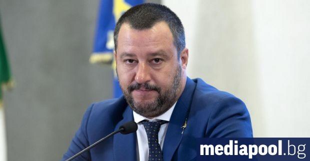 Вицепремиерът и вътрешен министър на Италия Матео Салвини заяви пред