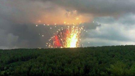 Един загинал, 7 ранени и 11 хиляди евакуирани заради взрив в склад за танкови снаряди в Русия