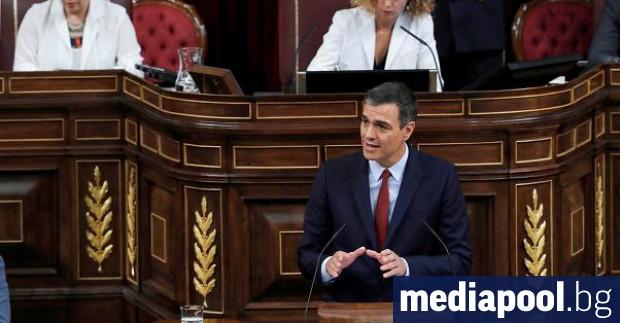 Лидерът на Испанската социалистическа работническа партия Педро Санчес, както се