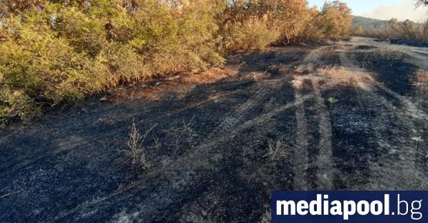 Военнослужещи от хасковското формирование се включиха в гасенето на пожара