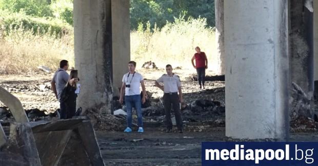 """Участъкът от магистрала """"Струма"""" край Дупница, където преди дни горя"""