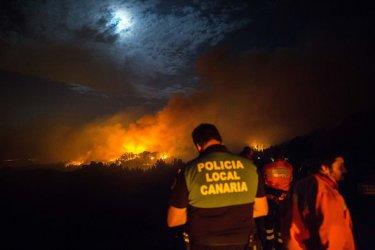 40 селища от Гран Канария са евакуирани заради горски пожари