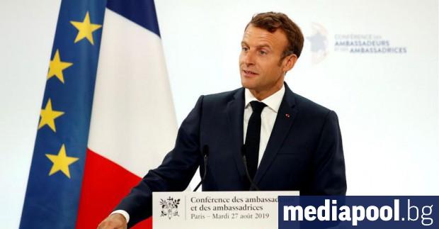 В обширна външнополитическа реч във вторник френският президент Еманюел Макрон